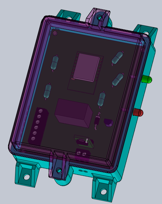 Solidworks model of module assembly