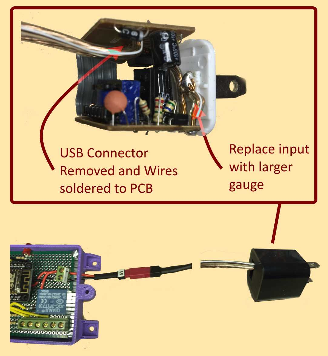 Hack a USB charger for IoT